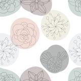 Floral άνευ ραφής σχέδιο λουλουδιών, υπόβαθρο Στοκ Φωτογραφία