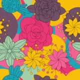 Floral άνευ ραφής σχέδιο λουλουδιών, υπόβαθρο Στοκ Φωτογραφίες