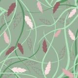 Floral άνευ ραφής σχέδιο στο ιαπωνικό ύφος Στοκ φωτογραφία με δικαίωμα ελεύθερης χρήσης