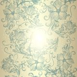 Floral άνευ ραφής σχέδιο ταπετσαριών με τα λουλούδια για το σχέδιο Στοκ εικόνα με δικαίωμα ελεύθερης χρήσης