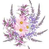 Floral άνευ ραφής σχέδιο ταπετσαριών με τα λουλούδια Στοκ εικόνα με δικαίωμα ελεύθερης χρήσης