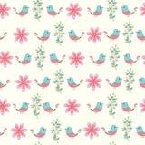 Floral άνευ ραφής σχέδιο (τυλίγοντας έγγραφο) διανυσματική απεικόνιση
