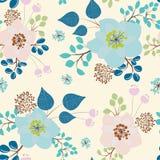 Floral άνευ ραφής σχέδιο (τυλίγοντας έγγραφο) απεικόνιση αποθεμάτων