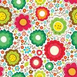 Floral άνευ ραφής σχέδιο διανυσματική απεικόνιση