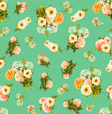 Floral άνευ ραφής σχέδιο watercolor Στοκ Φωτογραφίες
