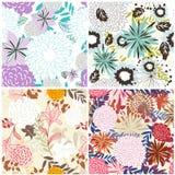 floral άνευ ραφής σύνολο ανασκ& Στοκ Εικόνες