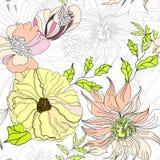 floral άνευ ραφής ταπετσαρία απεικόνιση αποθεμάτων