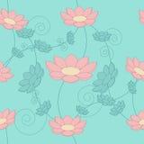 floral άνευ ραφής τρύγος ανασκόπησης Στοκ Εικόνες