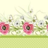 floral άνευ ραφής τρύγος προτύπω& ελεύθερη απεικόνιση δικαιώματος