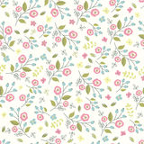 floral άνευ ραφής τρύγος προτύπω& Στοκ εικόνα με δικαίωμα ελεύθερης χρήσης