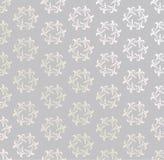 Floral άνευ ραφής υπόβαθρο. Αφηρημένη γκρίζα και άσπρη floral γεωμετρική άνευ ραφής σύσταση διανυσματική απεικόνιση