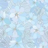 Floral άνευ ραφής υπόβαθρο. ευγενές σχέδιο λουλουδιών. Στοκ Εικόνες