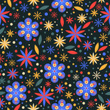 Floral άνευ ραφής υπόβαθρο σχεδίων λουλουδιών Στοκ Φωτογραφία