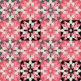 Floral άνευ ραφής υπόβαθρο σύστασης σχεδίων σχεδίου ύφους Στοκ Εικόνα
