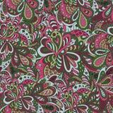 Floral άνευ ραφής υπόβαθρο Doodle Στοκ φωτογραφία με δικαίωμα ελεύθερης χρήσης