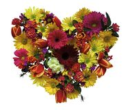 floral άνοιξη καρδιών Στοκ εικόνα με δικαίωμα ελεύθερης χρήσης