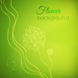 Floral έννοια υποβάθρου φύσης απεικόνιση Στοκ εικόνα με δικαίωμα ελεύθερης χρήσης