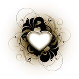 floral αγάπη καρδιών Στοκ εικόνες με δικαίωμα ελεύθερης χρήσης