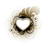 floral αγάπη καρδιών Στοκ Εικόνες