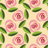 floral αναδρομικός άνευ ραφής προτύπων Στοκ εικόνες με δικαίωμα ελεύθερης χρήσης