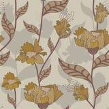 floral αναδρομικός άνευ ραφής π&r διανυσματική απεικόνιση