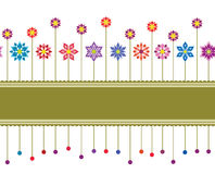 floral αναδρομικός άνευ ραφής &sigma διανυσματική απεικόνιση