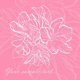 floral αναδρομικός ανασκόπησης διανυσματική απεικόνιση