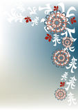 floral αναδρομικός ανασκόπηση&si Στοκ Φωτογραφίες
