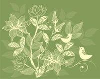 floral αναδρομικός ανασκόπηση&si διανυσματική απεικόνιση