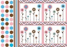floral αναδρομικός ανασκόπηση&si Στοκ εικόνα με δικαίωμα ελεύθερης χρήσης