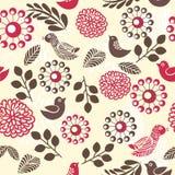 floral αναδρομικό άνευ ραφής διά Στοκ εικόνες με δικαίωμα ελεύθερης χρήσης