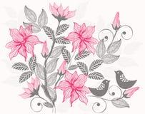 floral αναδρομικό διάνυσμα ανα& Στοκ Φωτογραφίες