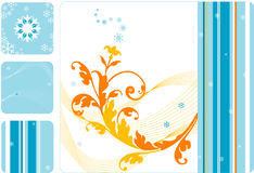 floral αναδρομικό καθορισμέν&omicron Στοκ εικόνα με δικαίωμα ελεύθερης χρήσης