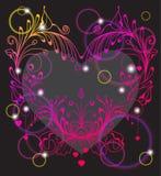 Floral ανασκόπηση βαλεντίνων με την καρδιά απεικόνιση αποθεμάτων