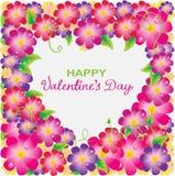 Floral ανασκόπηση βαλεντίνων με τη μορφή καρδιών Στοκ εικόνα με δικαίωμα ελεύθερης χρήσης