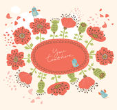 Floral ανασκόπηση Στοκ φωτογραφία με δικαίωμα ελεύθερης χρήσης