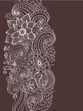 Floral ανασκόπηση Doodle Στοκ φωτογραφία με δικαίωμα ελεύθερης χρήσης