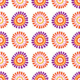 floral αναδρομικός άνευ ραφής π&r Στοκ εικόνες με δικαίωμα ελεύθερης χρήσης