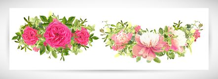 Floral ανθοδέσμη σχεδίου προτύπων επίσης corel σύρετε το διάνυσμα απεικόνισης Στοκ Εικόνα