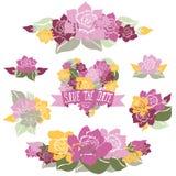 Floral ανθοδέσμες Στοκ εικόνες με δικαίωμα ελεύθερης χρήσης