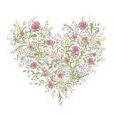 Floral ανθοδέσμη αγάπης για το σχέδιό σας, μορφή καρδιών Στοκ Εικόνες