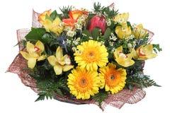 Floral ανθοδέσμη λουλουδιών ρύθμισης των κίτρινων gerberas, χλωμό yello Στοκ Εικόνα