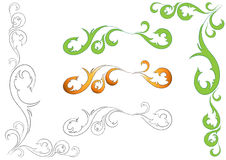floral απεικόνιση στοιχείων σχ Διανυσματική απεικόνιση