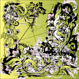 floral απεικόνιση grunge Στοκ Εικόνες