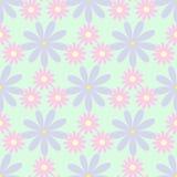 Απλό άνευ ραφής σχέδιο με τα λουλούδια Floral διανυσματική απεικόνιση ελεύθερη απεικόνιση δικαιώματος