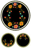 floral απομονωμένη διακόσμηση Στοκ Εικόνες