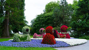Floral αριθμοί των παπιών στο νησί Mainau στη Γερμανία Στοκ Εικόνες