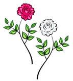 floral αρχικό διάνυσμα διακοσ&m Στοκ Εικόνες