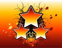 floral αστέρια Στοκ εικόνα με δικαίωμα ελεύθερης χρήσης