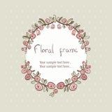 Floral αυξήθηκε πλαίσιο στεφανιών για το κείμενο απεικόνιση αποθεμάτων